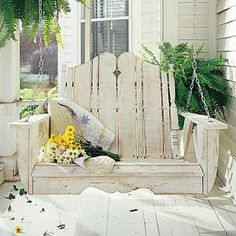 when im old and wrinkled and look to the right of me and see my hansome husband loving me as much as he did when we were young and fun we will sit in front of our big clean house on this kind of bench and talk about our favorite memories<3