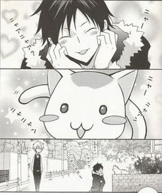 Izaya l Cat l Shizuo l So cute!!