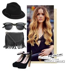 """""""Untitled #127"""" by nicasbo ❤ liked on Polyvore featuring moda, RED Valentino, INDIE HAIR e BeckSöndergaard"""