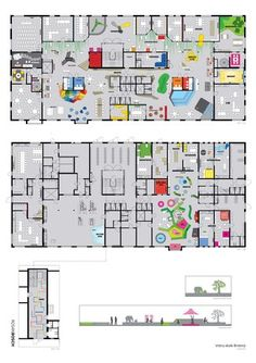 Rosan Bosch - about innovative School Kindergarten Architecture, Kindergarten Interior, Kindergarten Projects, Kindergarten Design, Education Architecture, Architecture Plan, School Floor Plan, Office Floor Plan, School Plan