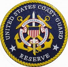 "US Coast Guard Reserve ""Born Ready"" -- solid mahogany #plaque in full color"