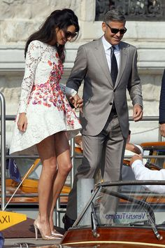 Her Dress! Every Photo You Need To See Of George Clooney And Amal Almuddin's...
