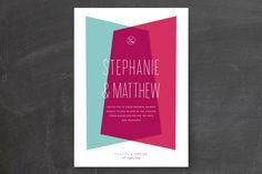 Shindig Wedding Invitations by Precious Bugarin Design at minted.com, overlapping color shapes
