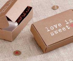Cake / Chocolate Box - Retro - Kraft (x10)