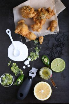 Seaweed and Tofu Beignets with Jalepeno and Shikuwasa Jam Paste, recipe/method forthcoming at Olives for Dinner.