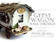 A walk through for decorating and embellishing the chipboard Gypsy Wagon available from GSLCuts.com Complete supply list: http://blog.pixiehill.com/2016/02/w...