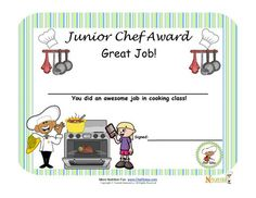 Cooking with kids is a great way to encourage children to learn about healthy foods. Encourage children to become little chefs with our Junior Cooking Certificate for children. (cooking with kids) Cooking In The Classroom, Cooking Classes For Kids, Cooking School, Children Cooking, Chef School, Nutrition Education, Kids Nutrition, Nutrition Activities, Nutrition Shakes