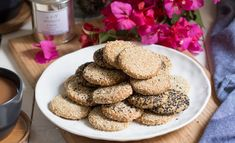 Tahini takes these recipes to the next level. Tahini Recipe, Walnut Cookies, Cereal, Sweet Treats, Breakfast, Desserts, Recipes, Food, Morning Coffee