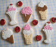 Ice Cream Cookies by Brenda's Cakes - Ohio, via Flickr
