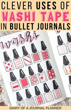 Read here for 40 clever and creative ways to use washi tape in your bullet journal! From how to showcase it, to fixing mistakes, to color coding and everything inbetween! Bullet Journal Washi Tape, Bullet Journal Contents, Bullet Journal Layout, Bullet Journal Inspiration, Journal Ideas, Bullet Journal For Beginners, Bullet Journal Hacks, Bullet Journal How To Start A, Bullet Journals