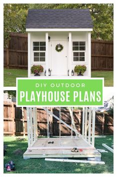 Create an outdoor playhouse your child will love with these free outdoor playhouse plans that include amazing ideas for your playhouse interior and playhouse decor! Playhouse Decor, Playhouse Interior, Girls Playhouse, Playhouse Ideas, Casa Wendy, Wendy House, Backyard Playset, Backyard Playhouse, Build A Playhouse