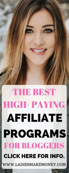 What Affiliate Programs should you join to make Money? Join these high end paying affiliate marketing for bloggers to make money online. Learn how to make money from your blog using affiliate marketing. How do you start affiliate marketing? Take a course