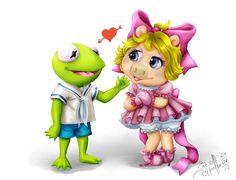 Miss Piggy & Kermit - Ek en Reinhardt vir ons Disney Party Miss Piggy Muppets, Kermit And Miss Piggy, Kermit The Frog, Cartoon Clip, Baby Cartoon, Fraggle Rock, The Muppet Show, Muppet Babies, Disney Images