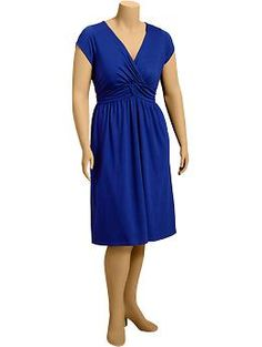 Women's Plus Shirred Jersey Dresses | Old Navy