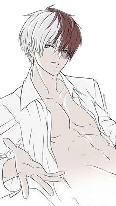 Hot Anime Boy, Cute Anime Guys, Anime Guys Shirtless, Handsome Anime Guys, My Hero Academia Shouto, My Hero Academia Episodes, Bakugou Manga, Hottest Anime Characters, Anime Boyfriend