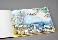 Dans le carnet de Pinklola! - Chou & Flowers Mini Albums Scrapbook, Tampons, Mail Art, Drawing, Project Life, Mixed Media Art, Flowers, Projects, Cards