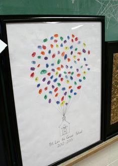 Gesookids: Whole school auction art: thumbprints