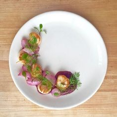 Romantic Dinner: Seared Scallops with Beets and Butter-Braised Radishes. A beautiful, simple, and healthy romantic dinner for two (or more!) Thank you for subscribing!   Tasting Everything