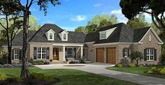 Spacious French Country Home Plan - 11749HZ | European, French Country, Southern, Metric, Photo Gallery, 1st Floor Master Suite, Bonus Room, Butler Walk-in Pantry, CAD Available, Courtyard, Den-Office-Library-Study, PDF, Split Bedrooms | Architectural Designs
