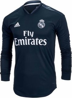 1672bfd6fddd6 2018 19 adidas Real Madrid authentic L S Away Jersey. Shop for this
