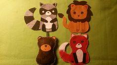 Work In progress~  Procione leone orso e volpe in feltro -