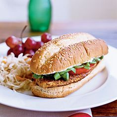 Gluten-Free Sandwiches  | Cornmeal-Crusted Tilapia Sandwiches with Lime Butter | MyRecipes.com