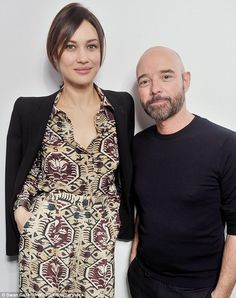 Pleased to meet you: Schiaparelli design director Bertrand Guyon shared a moment with spec...