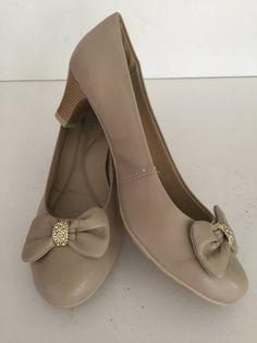 scarpin - salto 6,0 cm - cor castanho - tamanho 40 - sapatos ana vitória