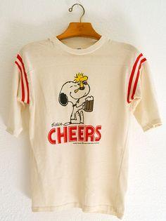 """Snoopy & Woodstock """"Cheers"""" Tshirt"""
