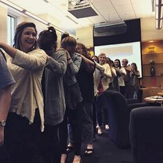 Groupie massage train at our quarterly meeting yesterday...Nothing to see here...