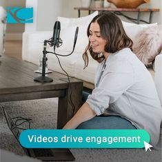 Video is becoming the #1 type of media when it comes to engagement. Create short and interesting videos to share on social media. #videocontent #engagement #videomarketing #socialmedia #socialmediamarketing #marketing #marketingtip #TiffanyCoxDesign Social Media Marketing, Things To Come, Engagement, Type, Create, Videos, Design, Engagements