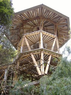 shed plans! Start building amazing sheds the easier way. with a collection of shed plans! Bamboo Building, Natural Building, Building A Shed, Bamboo Bamboo, Bamboo House, Bamboo Architecture, Architecture Design, Bamboo Structure, Bamboo Construction