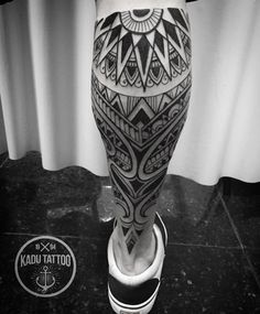 Maori Tribal Back Of Leg | Best tattoo ideas & designs