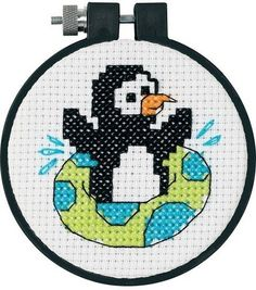 Dimensions Learn-A-Craft Counted Cross-Stitch Kit Playful Penguin