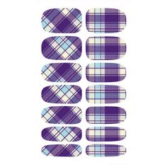 KG007A Water Transfer Foils Nail Sticker Minx Manicure Decoration Tools Purple Design Nail Wraps Nail Polish Stickers