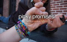 What's life without pinky promises?
