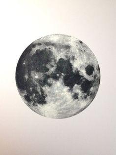 Full Moon Screen Printed Poster Glows in by TheRamblinWorkerShop, $60.00