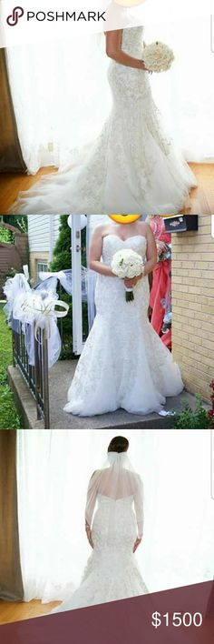 Wedding dress Strapless,while, w too Dresses Strapless