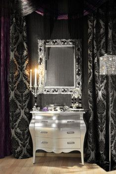 Gothic vanity on pinterest gothic home decor gothic for Gothic bathroom ideas