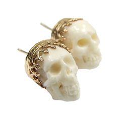 Crowned Skull Stud Earrings