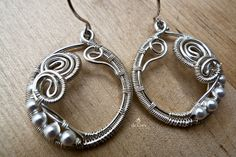Seawave Earrings, Wire Jewelry | Flickr - Photo Sharing!