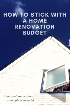 How to Stick With a Home Renovation Budget - from small renovations to a complete remodel Smart Home Design, Home Office Design, Home Improvement Loans, Home Improvement Projects, Leaking Faucet, Budget Storage, Renovation Budget, Roof Covering, Building Department