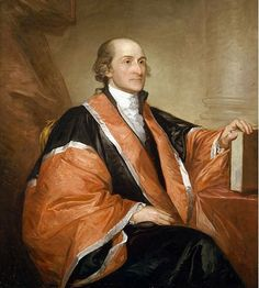 John Jay is most well remembered for co-writing the Federalist Papers and serving as the President of the Continental Congress and first Chief Justice of the United States (photo: Reproduction courtesy of the Supreme Court Historical Society) Today In History, Us History, American History, American Presidents, American Independence, Family History, Black History, Gilbert Stuart, Treaty Of Paris