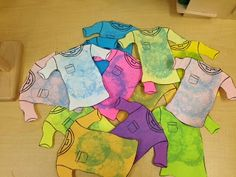 Preschool Wonders: Laundry Day! Cute idea for hands on opposites clean vs. dirty.