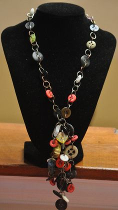 Buttoned Eccentricity by WearableArtByAbrilla on Etsy, $75.00