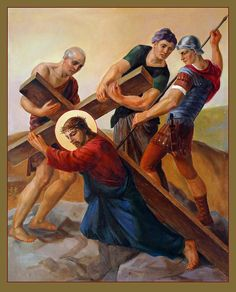 Via Dolorosa - Stations Of The Cross - 3 Painting by Svitozar Nenyuk