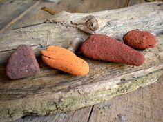 Beach Brick / Stone Magnet Set by BarnWoodArt on Etsy