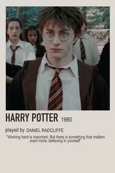 minimalist character polaroid harry potter poster (1980) - daniel radcliffe, hp, harry potter, aesthetic Harry Potter Movie Posters, Harry Potter Cards, Harry James Potter, Harry Potter Characters, Harry Potter Fandom, Movie Characters, Daniel Radcliffe Harry Potter, Daniel Radcliffe Movies, Harry Potter Scrapbook