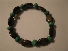 Golden Pietersite & turquoise bracelet by las81101 on Etsy