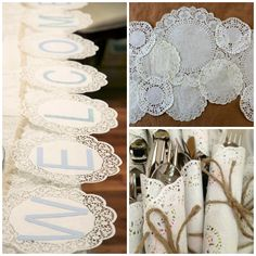 Paper doilies are an elegant and affordable way to spruce up your bridal shower decorations